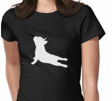 French Bulldog Yoga Womens Fitted T-Shirt