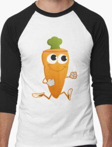 Cute Running Carrot Men's Baseball ¾ T-Shirt
