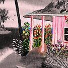 Pink Beach Cottage @ Nite by WhiteDove Studio kj gordon