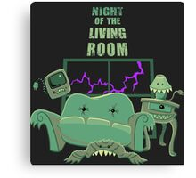 Night of the Living Room Canvas Print