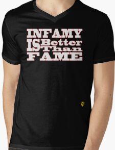 Infamy Mens V-Neck T-Shirt