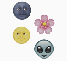 moon, blossom and alien emojis ♡ by shadowmoses