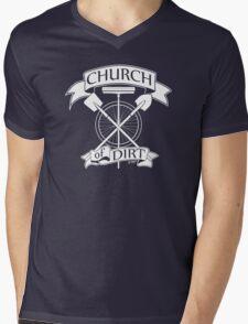 Church of Dirt Mens V-Neck T-Shirt