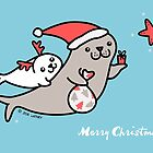 Seals Christmas by zoel