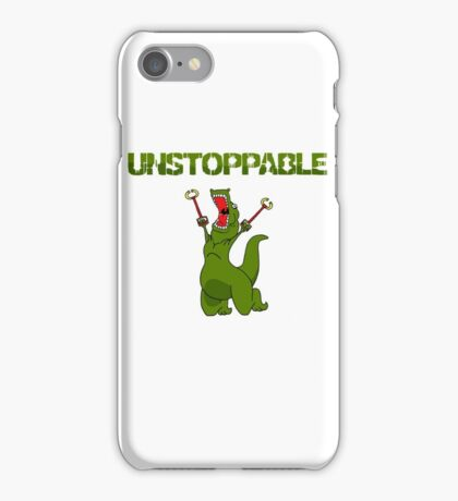 Unstopable T-rex iPhone Case/Skin