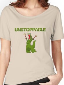 Unstopable T-rex Women's Relaxed Fit T-Shirt