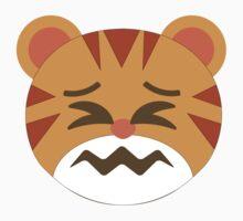 Tiger Emoji Sour Face Kids Tee