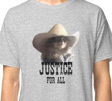 Sheriff Cat Justice Fur All Classic T-Shirt