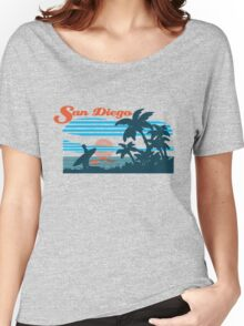 San Diego Surf Scene Women's Relaxed Fit T-Shirt