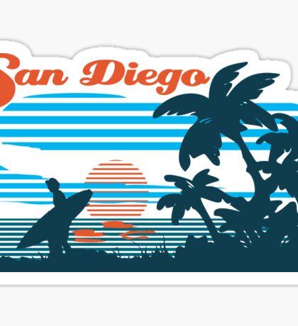 San Diego Surf Scene Sticker