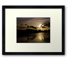 Butterley Sunset Framed Print