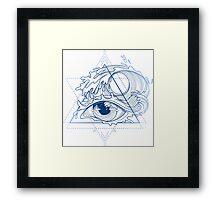 Ocean in the eye Framed Print
