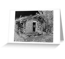 Old Abandoned Cabin Greeting Card