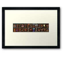 Steampunk -  Alphabet - Banner Version Complete Framed Print