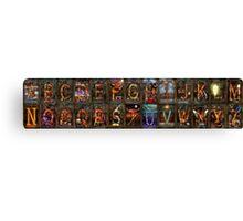 Steampunk -  Alphabet - Banner Version Complete Canvas Print