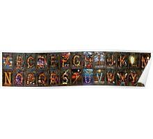 Steampunk -  Alphabet - Banner Version Complete Poster