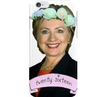 Hipster Hillary for President iPhone Case/Skin