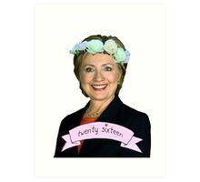 Hipster Hillary for President Art Print