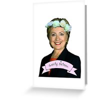 Hipster Hillary for President Greeting Card