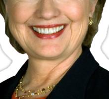 Hipster Hillary for President Sticker