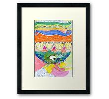 Layered Landscape Framed Print