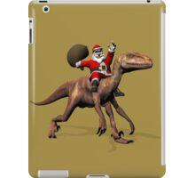 Santa Claus Riding On Deinonychus iPad Case/Skin