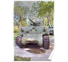 M4A3 Sherman Tank Poster