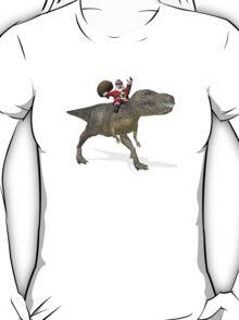 Santa Claus Riding A Trex T-Shirt