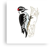Illustration of Woodpecker on Tree  Metal Print