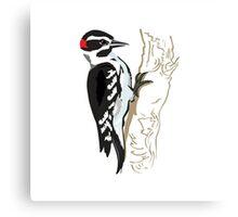 Woodpecker on Tree Canvas Print