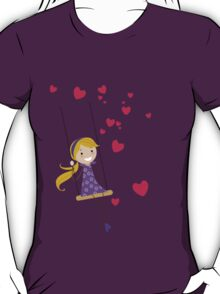 Swinging Girl (Swinging Girl & Swinging Boy Couples Design) T-Shirt