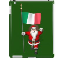 Santa Claus With Flag Of Italy iPad Case/Skin
