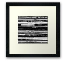 Music is my life Framed Print