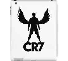 CR7 angel black iPad Case/Skin