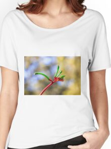Red and Green Kangaroo Paw Clothing, Kings Park Women's Relaxed Fit T-Shirt