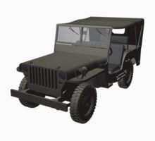 Gray Willys MB Jeep Baby Tee