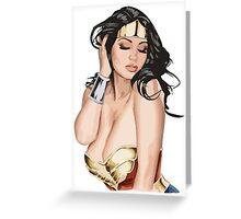 Sexy teen girl Curvy beautiful body Stunning pretty hottie Large Breasts Greeting Card