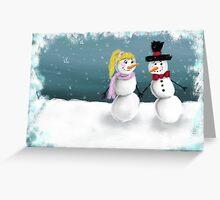 Mr. & Mrs. Snowman Greeting Card