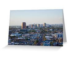 Blue Cityscape Greeting Card