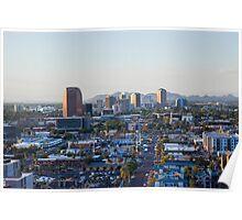 Blue Cityscape Poster