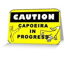 capoeira caution Greeting Card