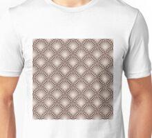 Elegant Seashell on Brown Background Pattern Unisex T-Shirt