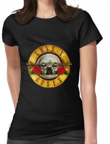 Guns N' Roses tour date time 2016 rs3 Womens Fitted T-Shirt