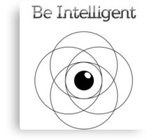 Be Intelligent Erudite Eye - Black  Canvas Print