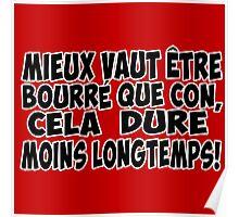 alcool citation bourré Poster