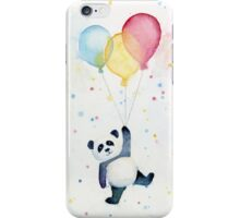 Panda floating with Balloons iPhone Case/Skin