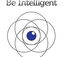 Be Intelligent Erudite Eye - Black & Blue by MusicandWriting