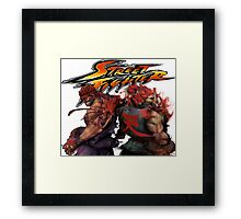 EvilRyu and Akuma Framed Print