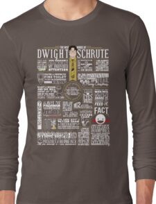 The Wise Words of Dwight Schrute (Dark Tee) Long Sleeve T-Shirt