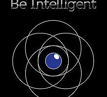 Be Intelligent Erudite Eye - White & Blue by MusicandWriting